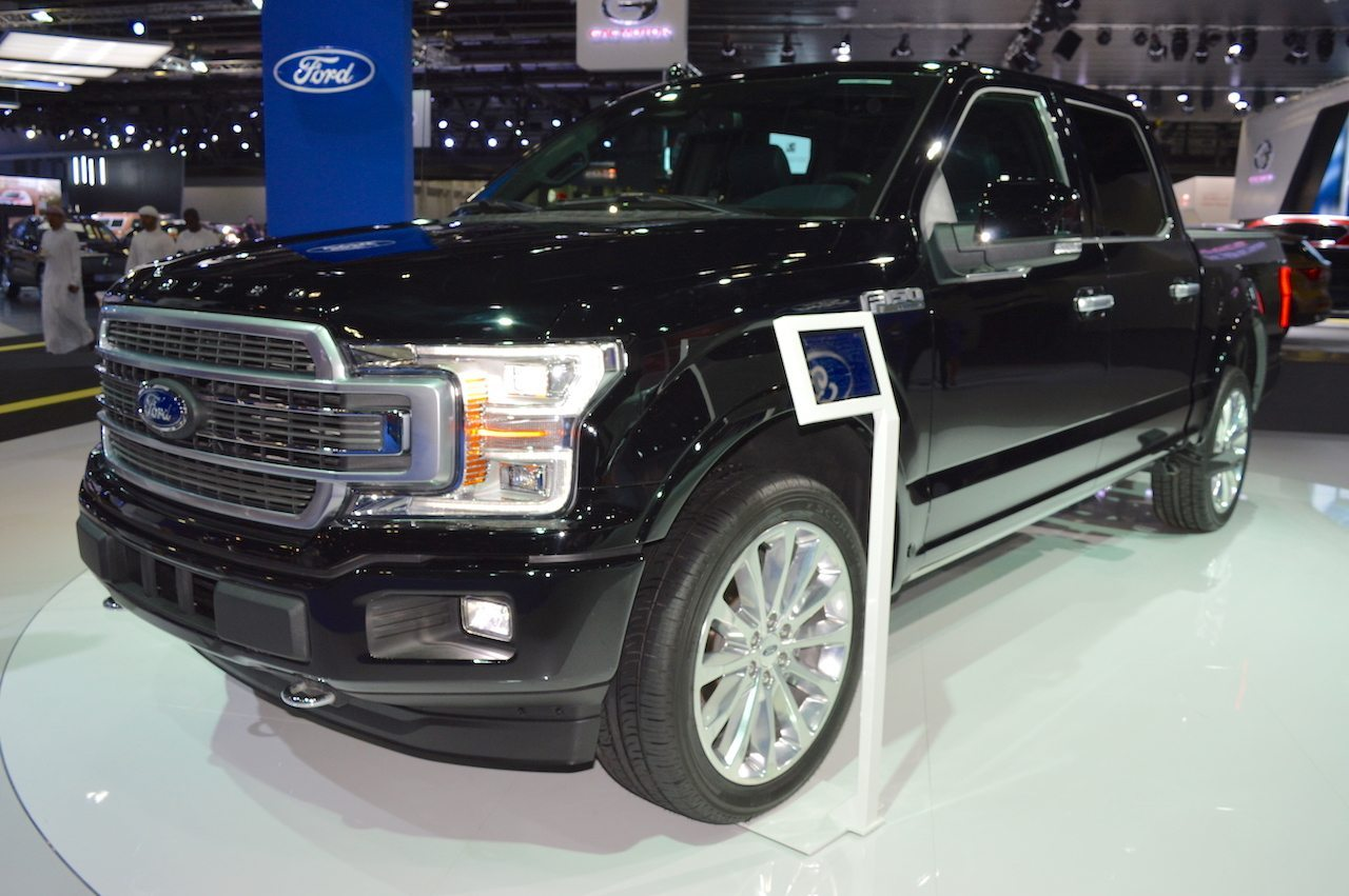 ford showcased 2018 f 150 limited at the dubai motor show. Black Bedroom Furniture Sets. Home Design Ideas