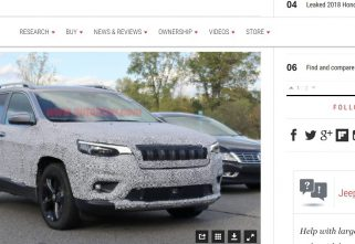 Spy Picture Of 2019 Jeep Cherokee