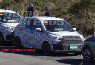 Ford Figo Face-lift Caught Testing