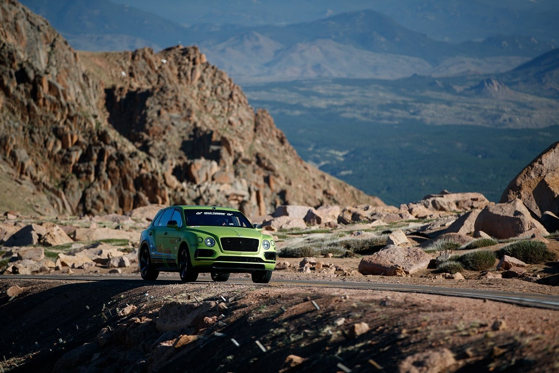 Bentley Bentayga Smashes Production SUV Record At Pikes Peak